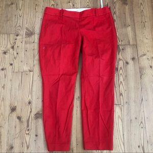 Jcrew minie fit Cherry red pants Sz 10